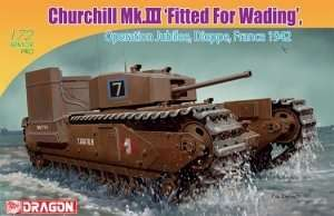 Dragon 7520 czołg Churchill Mk.III Fitted For Wading Operation Jubilee, Dieppe France 1942