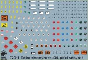 Polish Army vehicles Registration, unit insignia and stencils vol.1