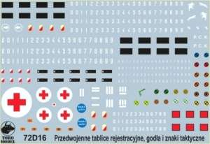 Polish Army vehicles Pre-war registration numbers, unit insignia and stencils