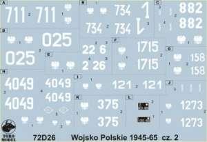 Polish Army 1945-65 vol.2 in scale 1-72