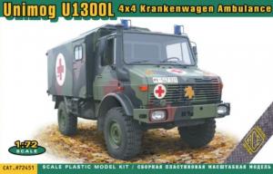 Unimog U1300L 4x4 Krankenwagen Ambulance ACE 72451in 1-72