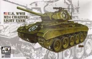 US WWII M24 Chaffee Light Tank in scale 1-35