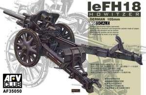German leFH18 10.5cm Howitzer model AFV 35050 in 1-35