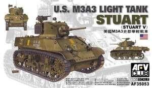 M3A3 Stuart Light Tank model AFV 35053 in 1-35