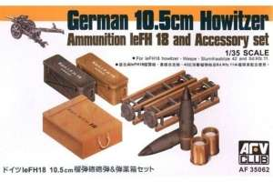 German 10,5cm Howitzer Ammunition leFH18 and Accessory set 1-35