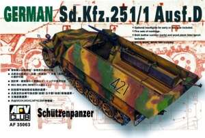 German Sd.Kfz.251/1 ausf.D model AFV 35063 in 1-35