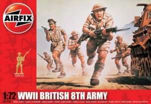 WWII British 8th Army in scale 1-72 - Airfix A01709
