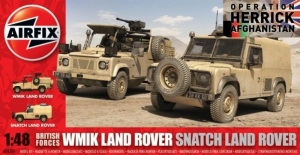 Land Rovers Snatch and WMIK British Forces model Airfix A06301