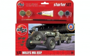 Starter Set Willys MB Jeep Airfix A55117 in 1-72