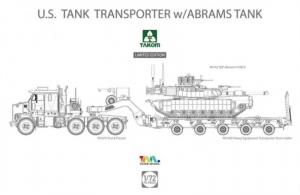 Amerykański transporter M1070 z czołgiem Abrams Takom 5002x