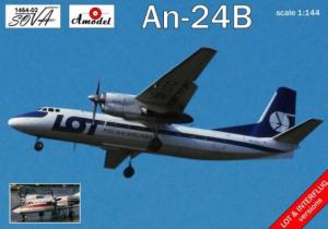 Antonov An-24B LOT model Amodel 1464-02 in 1-144