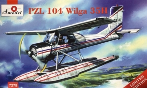 PZL 104 Wilga 35H model Amodel 7278 in 1-72