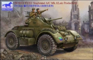 T17E1 Staghound A/C Mk.I Late Production model Bronco in 1-35