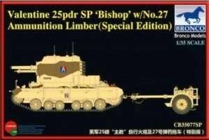 Valentine 25pdr SP Bishop w/No 27 Ammunition Limber in scale 1-35