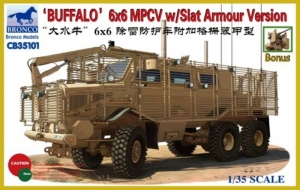 Buffalo 6x6 MPCV with Slat Armour Version model Bronco in 1-35