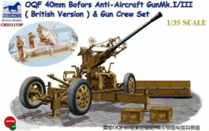 OQF 40mm Bofors Anti-Aircraft Gun Mk.I/III and Gun Crew Set