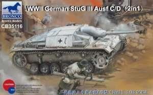 WWII German StuG III Ausf C/D in scale 1-35 Bronco