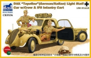 DAK Topolino Light Staff Car with Crew and IF8 Infantry Cart
