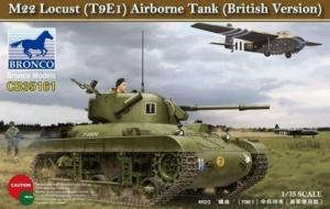 M22 Locust T9E1 Airborne Tank British Version model Bronco