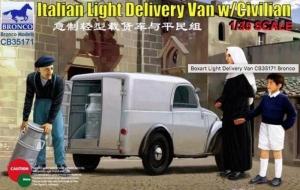 Italian Light Delivery Van with Civilian model Bronco in 1-35
