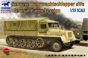 Schwere Wehrmachtschlepper sWS General Cargo Version in scale 1-35
