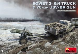 Ciężarówka 2T 6x4 z działem 76mm USV-BR MiniArt 35272