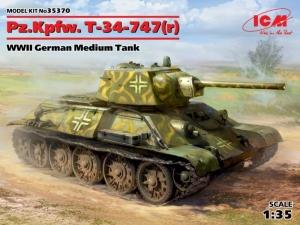 Pz.Kpfw. T-34-747(r) WWII German Medium Tank ICM 35370