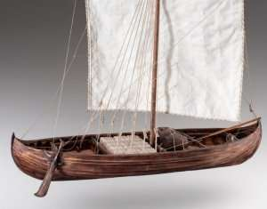 D007 Viking Knarr drewniany model knara 1-35