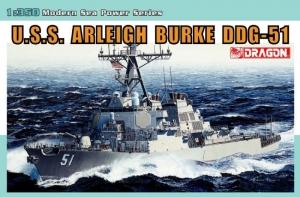 U.S.S. Arleigh Burke DDG-51 model Dragon 1023 in 1-350