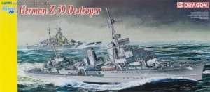 German Z-39 Destroyer model Dragon 1037 in 1-350