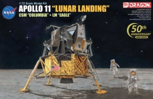 Apollo 11 Lunar Landing CSM Columbia and LM Eagle scale 1-72