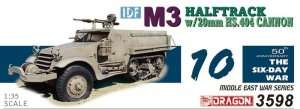 IDF M3 Halftrack with 20mm HS.404 Cannon in scale 1-35