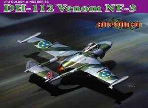 DH.112 Venom NF-3 model Dragon in scale 1-72