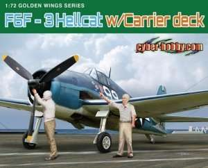 F6F-3 Hellcat w/Carrier deck in scale 1-72