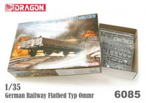 German Railway Flatbed Typ Ommr model Dragon 6085 in 1-35