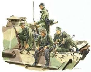 Panzer Riders (Lorraine 1944) model Dragon in 1-35