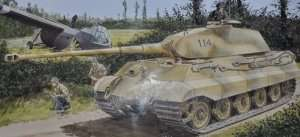 Tank model Sd.Kfz. 182 King Tiger Porsche Turret Dragon 6189