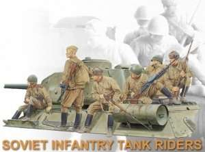 Soviet Infantry Tank Riders in scale 1-35 Dragon 6197