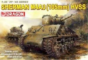 Tank model Sherman M4A3 105 HVSS Dragon 6354