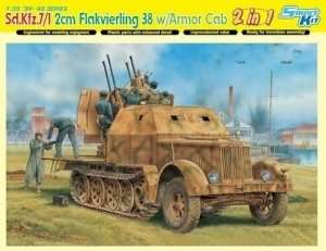 Sd.Kfz.7/1 2cm Flakvierling 38 w/Armor Cab in scale 1-35