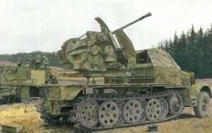 3.7cm Flak 43 auf Sd.Kfz.7/2 in scale 1-35 Dragon 6553