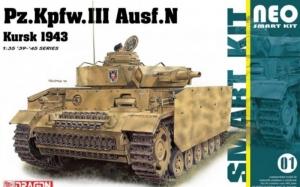 Pz.Kfw.III Ausf.N Kursk 1943 model Dragon 6559 in 1-35
