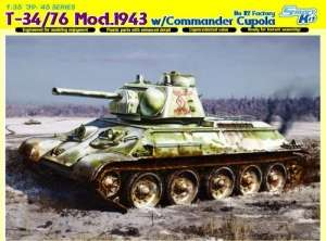 T-34/76 Mod. 1943 w/Commander Cupola model Dragon in 1-35
