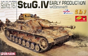 StuG.IV Early Production model 2 in 1 Dragon 6615 in 1-35