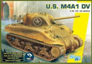 Tank U.S. M4A1 DV Sherman model Dragon 6618 in 1-35