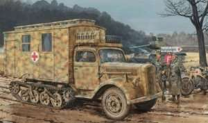 Sd.Kfz.3 Maultier Ambulance in scale 1-35