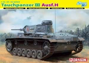 Tank Tauchpanzer III Ausf.H in scale 1-35 Dragon 6775