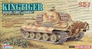 Kingtiger Henschel Turret w/Zimmerit in scale 1-35 Dragon 6840
