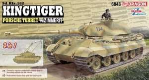 Kingtiger Porsche Turret w/Zimmerit 2in1 in scale 1-35
