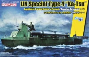 IJN Special Type 4 Ka-Tsu with Torpedo model Dragon in 1-35
